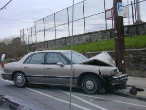 Brockton two car utility pole crash